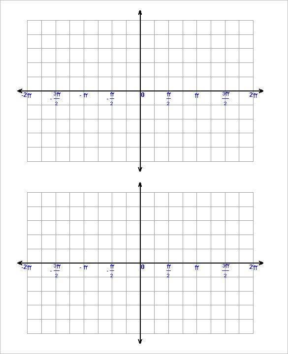 large trigonometric graph paper template