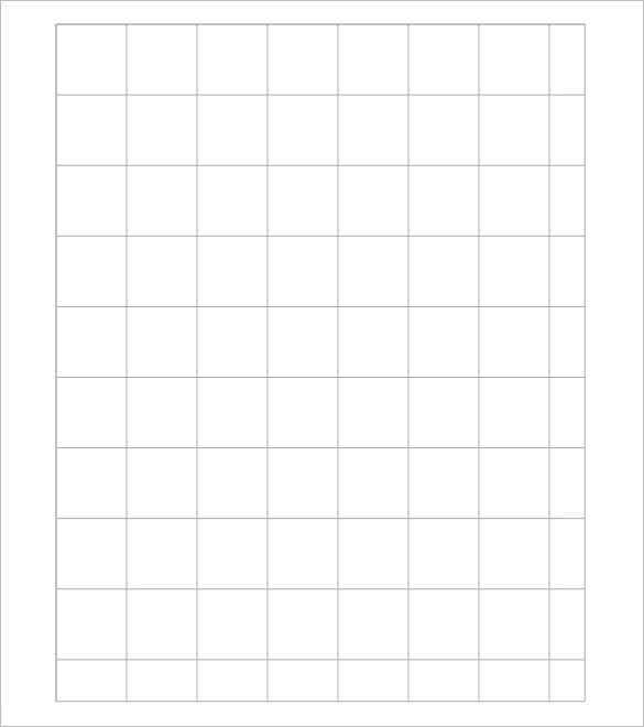 grid 1 inch graph paper template for free