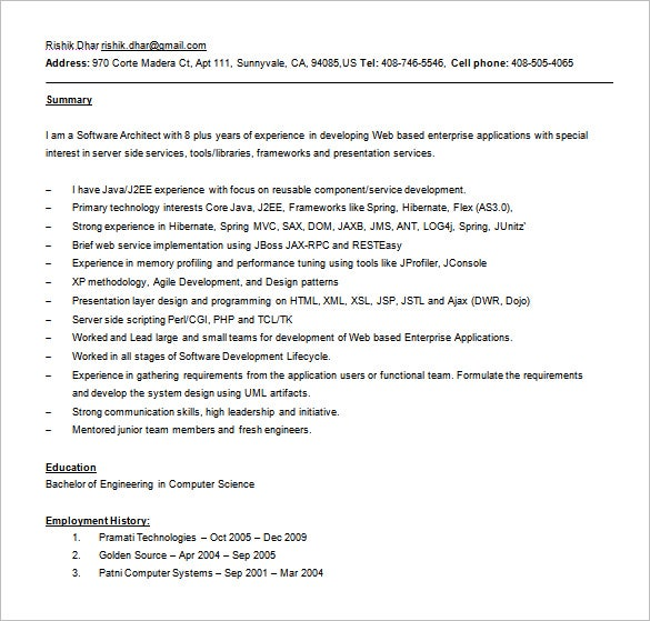 free web services resume word download