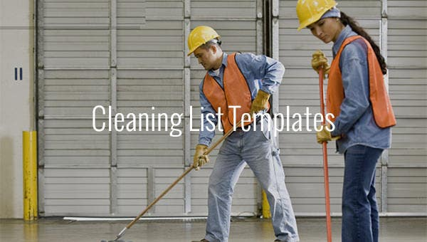 cleaning list templates