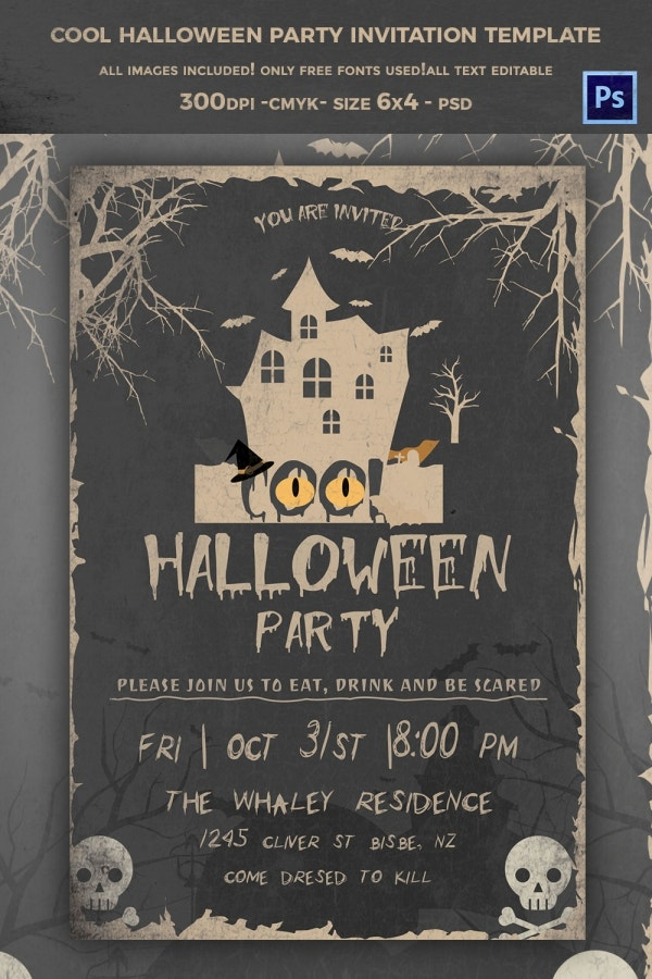 Halloween Invite Template  CityEsporaCo