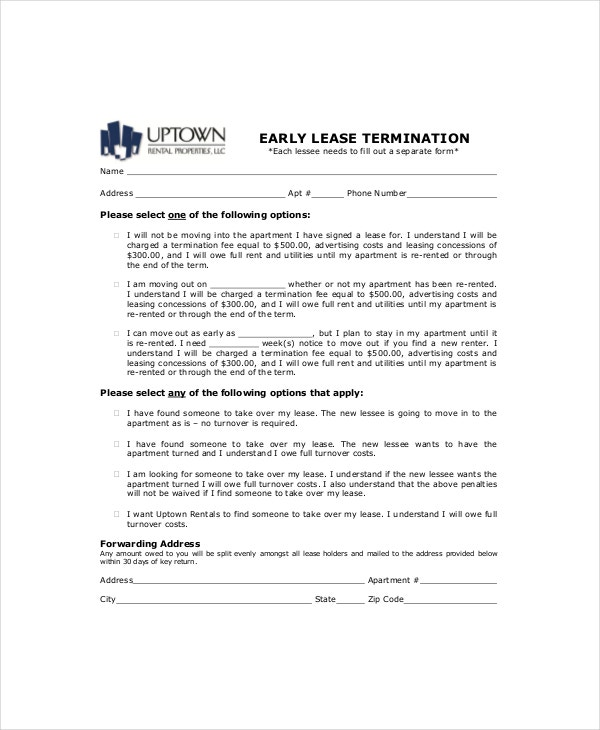 6+ Lease Termination Templates - Free Sample, Example, Format