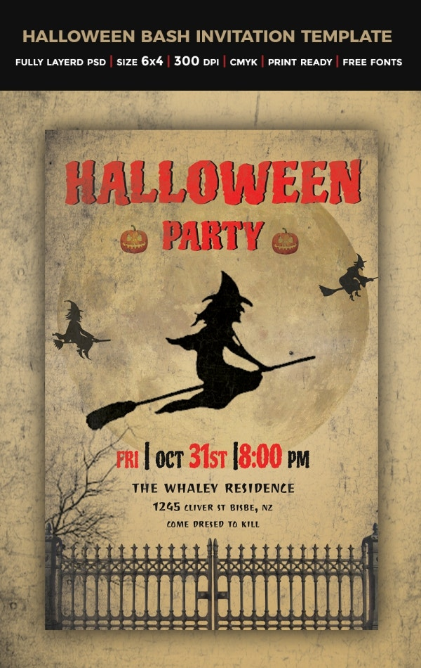 download halloween invitation template