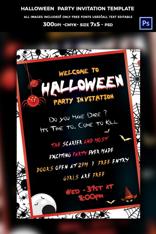 68+ Halloween Templates - Editable PSD, AI, EPS Format Download ...