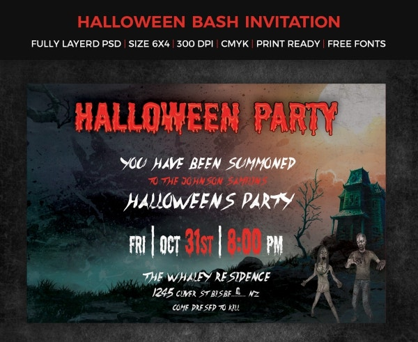 Colorful Halloween Party Invitation