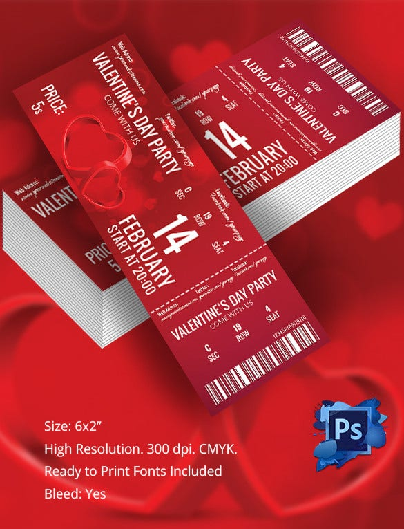 Ticket Template 91 Free Word Excel PDF PSD EPS Formats – Party Tickets Templates