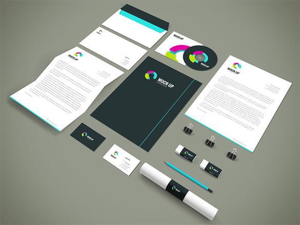 branding stationery mockup template download