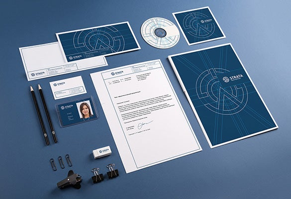 corporate identity psd branding template
