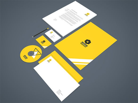 awesome branding stationery mock up template