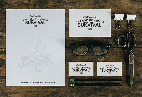 vintage branding mockup branding template