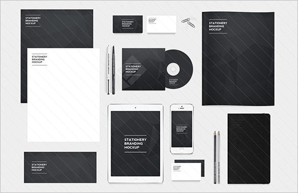 free stationery branding mockup template download
