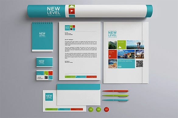 stationery presentation mockup branding template