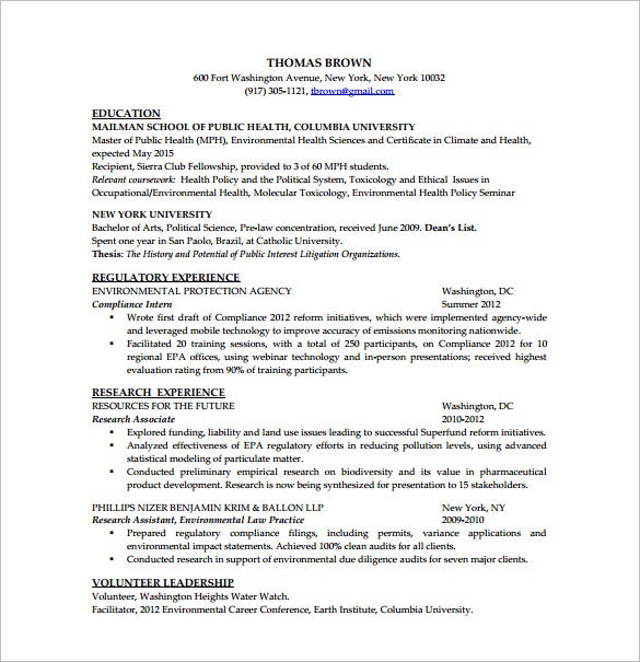 data analysis resume