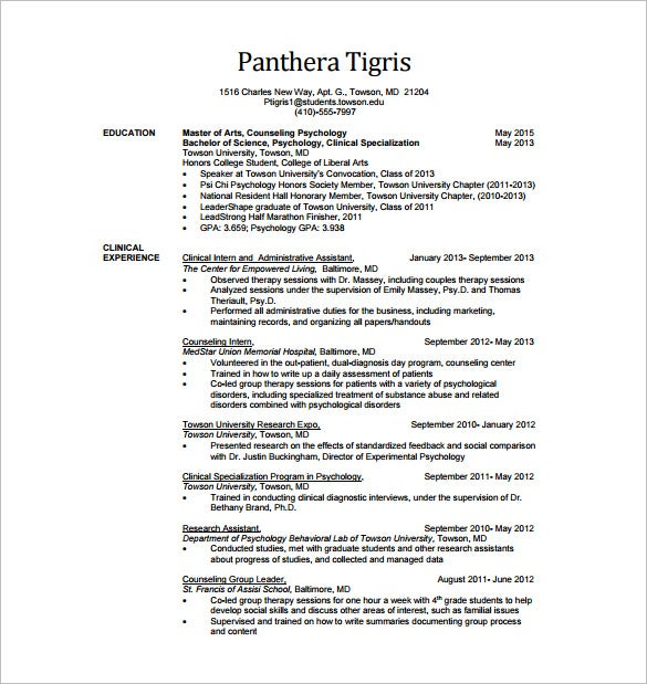 Clinical Data Analyst Resume Free PDF Download