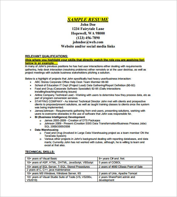 data analyst resume template 7 free word excel pdf format