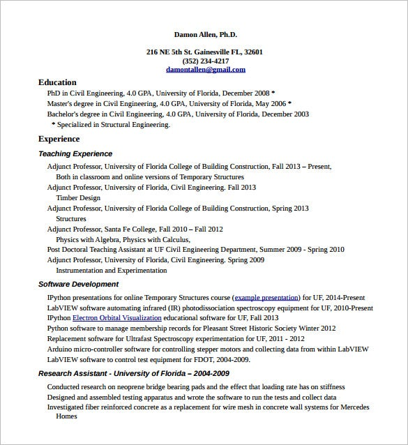 Union Carpenter Resume PDF Template