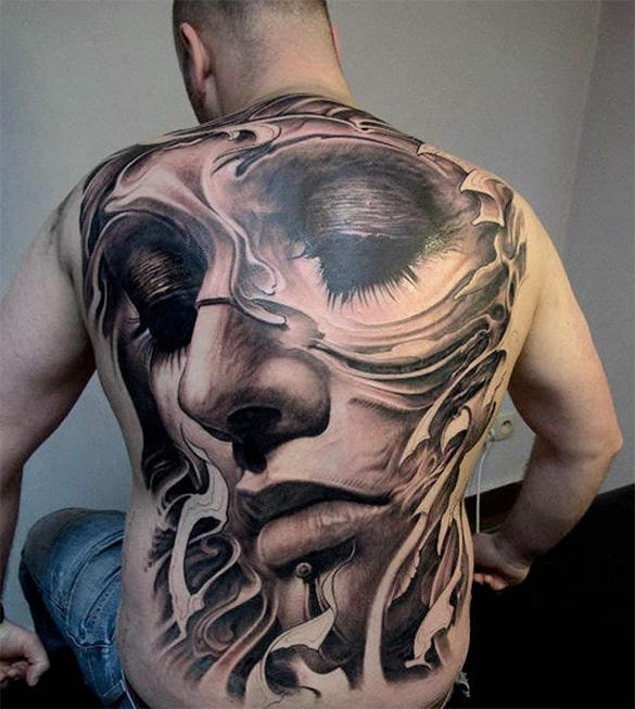 big tattoo on his back for free