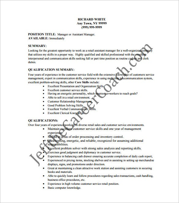 cashier resume template 11 free word excel pdf psd format