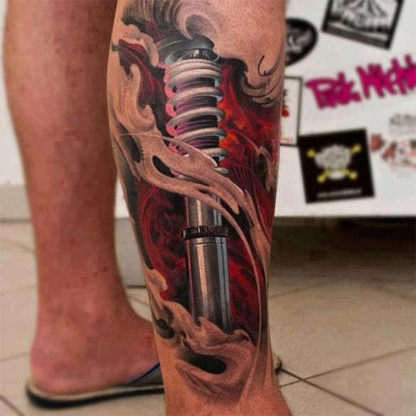 devastating artistic 3d tattoo