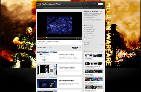 modern warfare youtube background