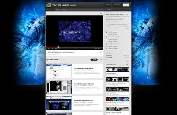 watery grave youtube layout free download
