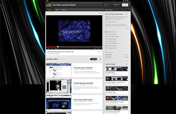 cool burst flares youtube background
