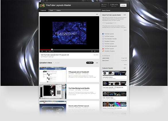 clean abstract youtube layout download