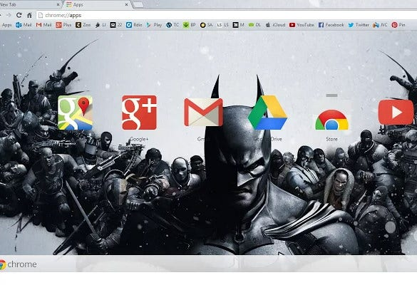 best batman arkham origins chrome backround