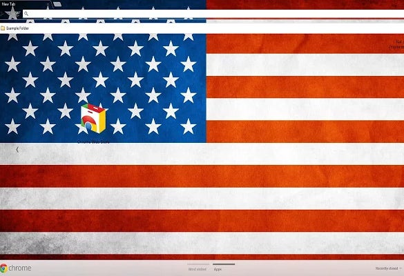 american flag theme background for chrome
