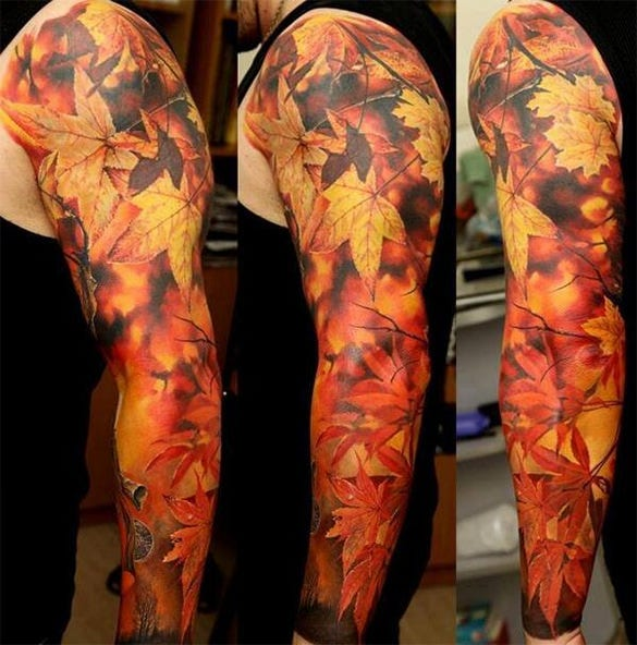 fiery tattoo on hands for you