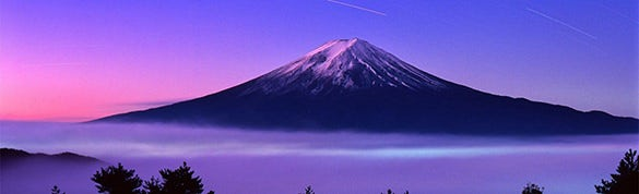 natur mount fuji download linkedin background