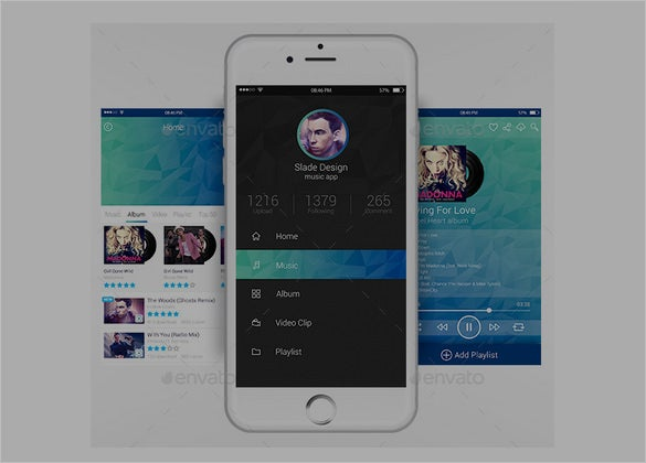 music mobile app designs