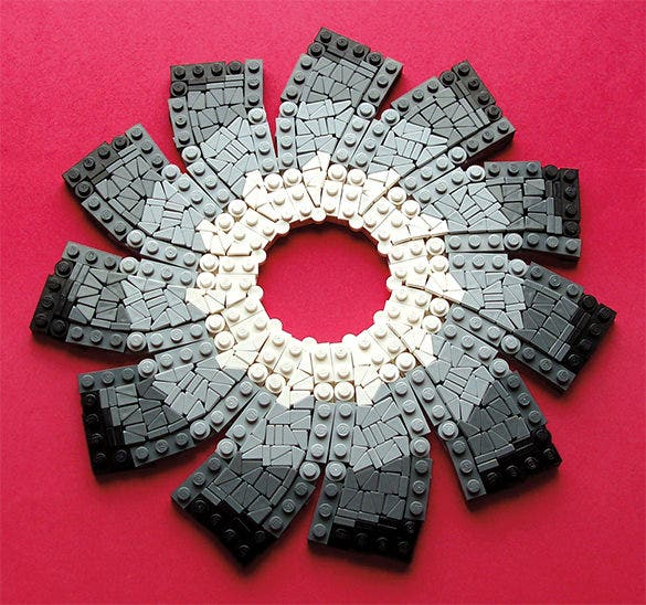 flower petal study lego creation