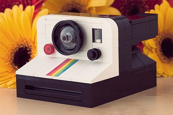 lego polaroid onestep cool creation
