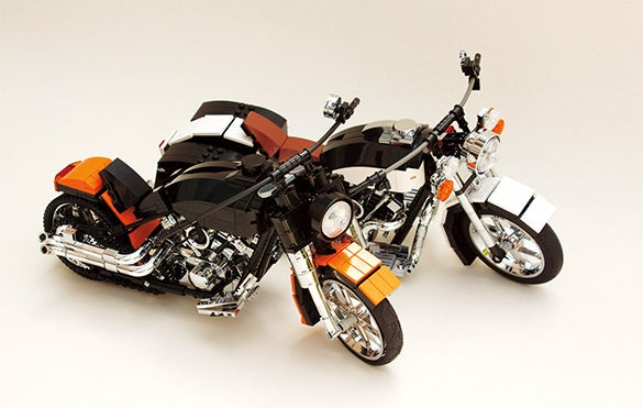 harley davidsons cool lego creation