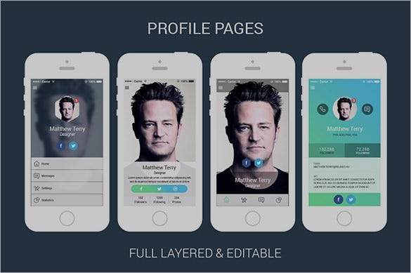 Awesome Mobile App Profile Designs