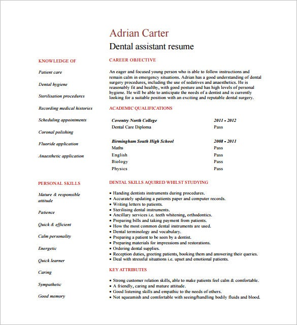 Beautiful Resume Template Sample Template One Page Of A Fresher Template Net