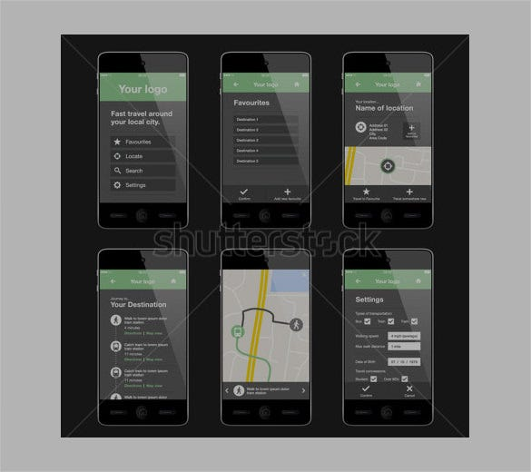 mobile app layout designs