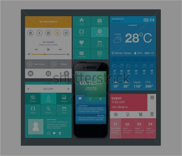 mobile app designs set