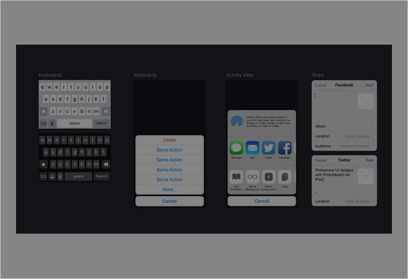 iphone app designs set