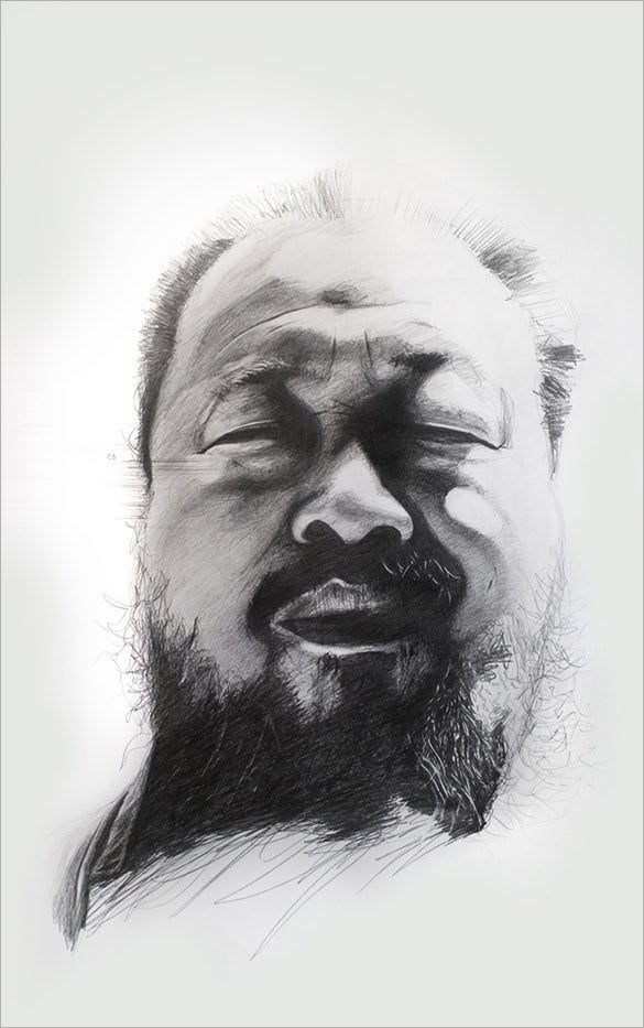ai weiwei pencil drawing for you