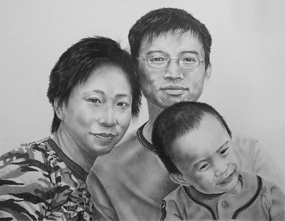 beautiful family pencil drawing for you