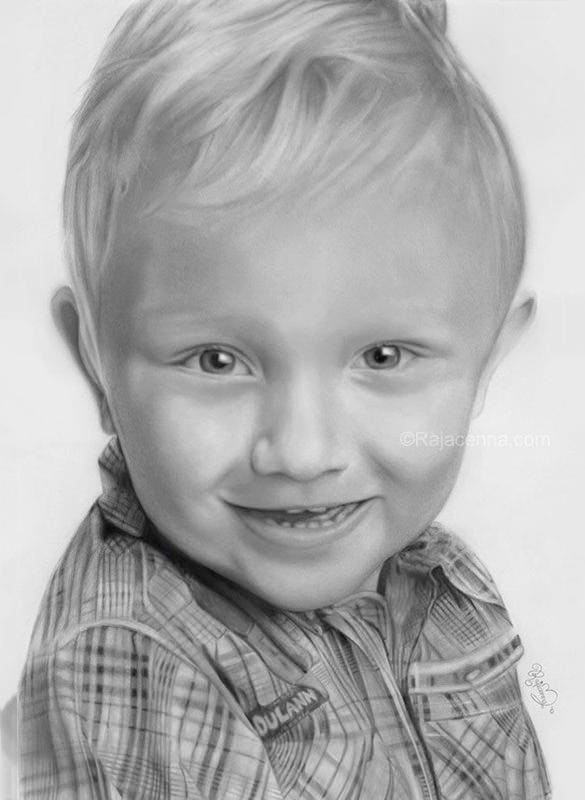 artistic boy pencil drawing for free