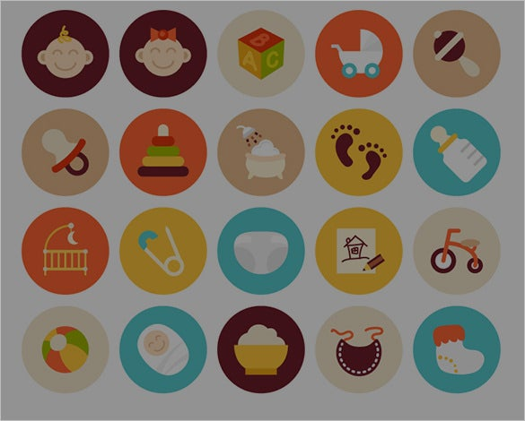awesome flat icons set
