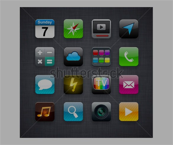 beautiful app icon designs for vector