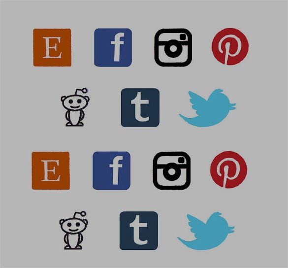 social network app icons