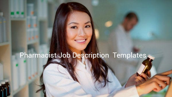 pharmacist job description templates