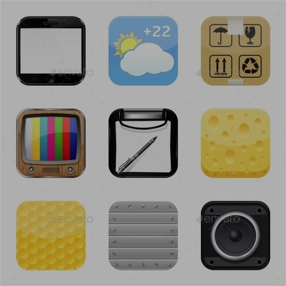 button app icons set