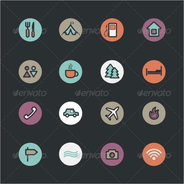 vector app icons set