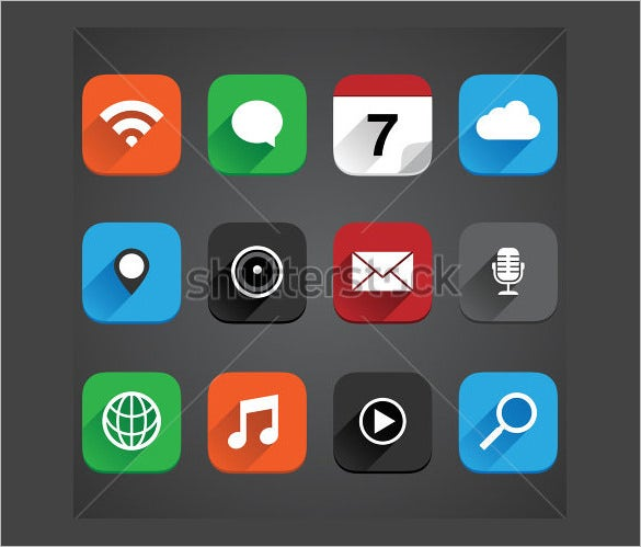 flat app icon collection